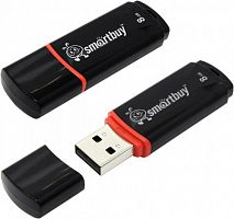 USB-Flash 4Gb SmartBuy Crown USB 2.0 черный